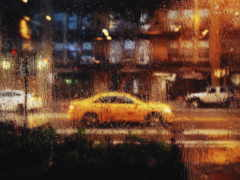 car, зеркало, дождь