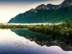 гора, озеро, лес