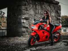 peakpxpage, девушка, мотоцикл