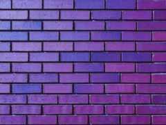 brick, стена, purple