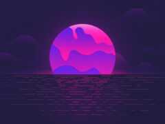 луна, заставок, графика