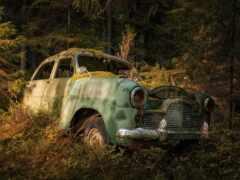 car, wreck, id