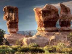 природа, каньон, гора
