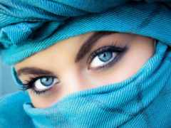 femme, eyes, regard