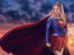supergirl, супергерой, artstation