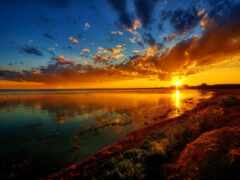 закат, природа, landscape