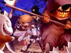 anime, halloween, aru
