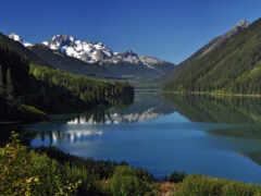 озеро, природа, park