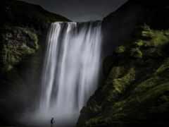 водопад, rock, природа
