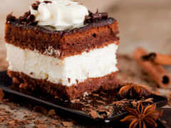торт, nutella, panna