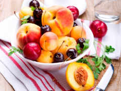 cherry, peaches, абрикосы