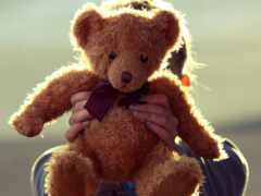 медвежонок, plushevyi, devushka