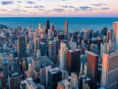 chicago, skyline, квартира