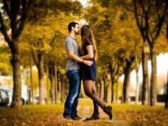 romantic, пара, осень
