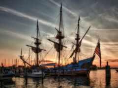 корабль, antique, sail