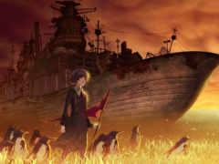 anime, ди, корабль