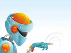 робот, рисованный
