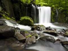 водопад, камень, gidroresurs