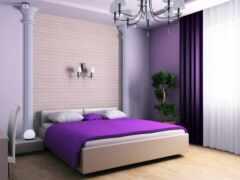 curtain, спальня, purple