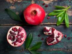 плод, гранат, лист