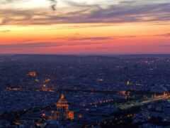 город, панорама, париж