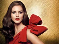 макияж, платье, красное