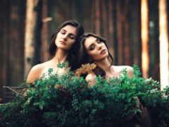 две, devushki, подруги
