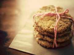 cookie, макро, овсяное