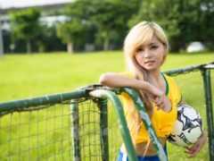 футбол, девушка, картинка