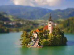 church, озеро, остров