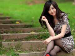sit, женщина, asian