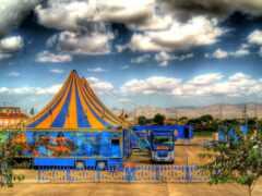 цирк, город, испания
