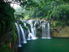 водопад, shifen, площадь