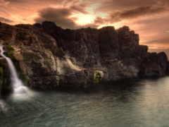 xfce, водопад, xubuntu