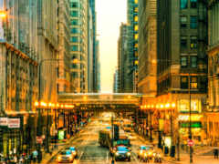 chicago, улица, теме