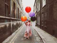 город, balloon, мяч