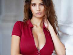 девушка, грудь, красивый