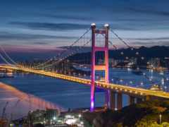 ночь, море, мост