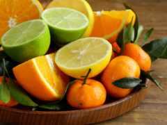 мандарины, лимоны, апельсины