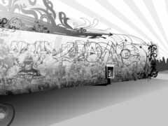 graffiti, стена, black