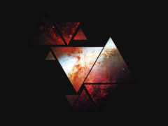 cosmos, dark, треугольники