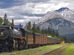 поезд, дорога, железная