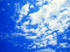 небо, oblaka, blue
