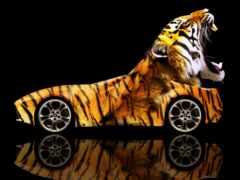 тигр, neon