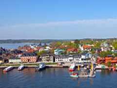 vaxholm, sweden, город