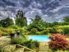 garden, oir, бассейн