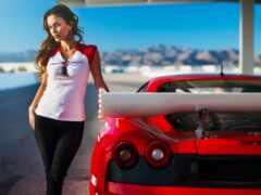 car, девушка, sports