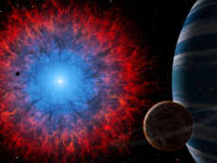 cosmos, fonds, ecran
