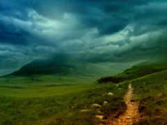 холмы, landscape, ирландии