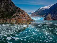 glacier, аляска, лед